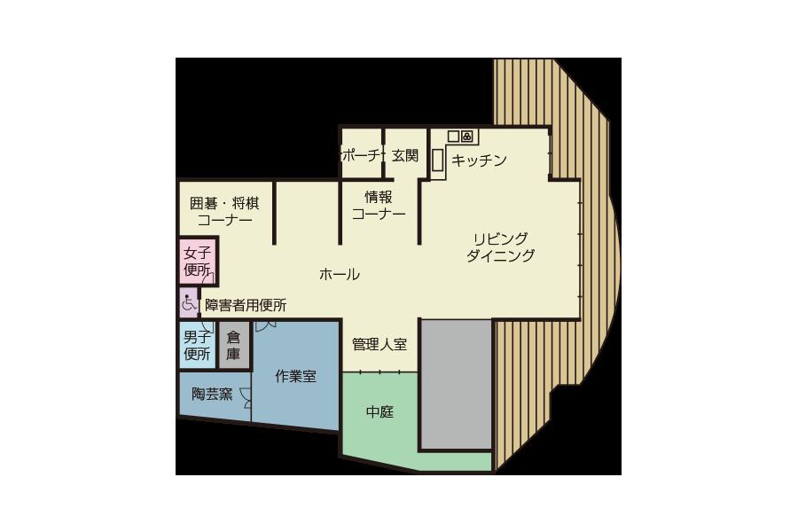 神戸市魚崎財産区  魚崎会館 フロアマップ