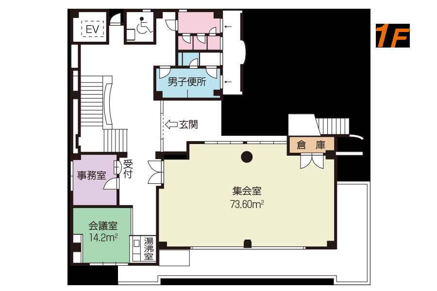 神戸市魚崎財産区  横屋会館 1Fフロアマップ