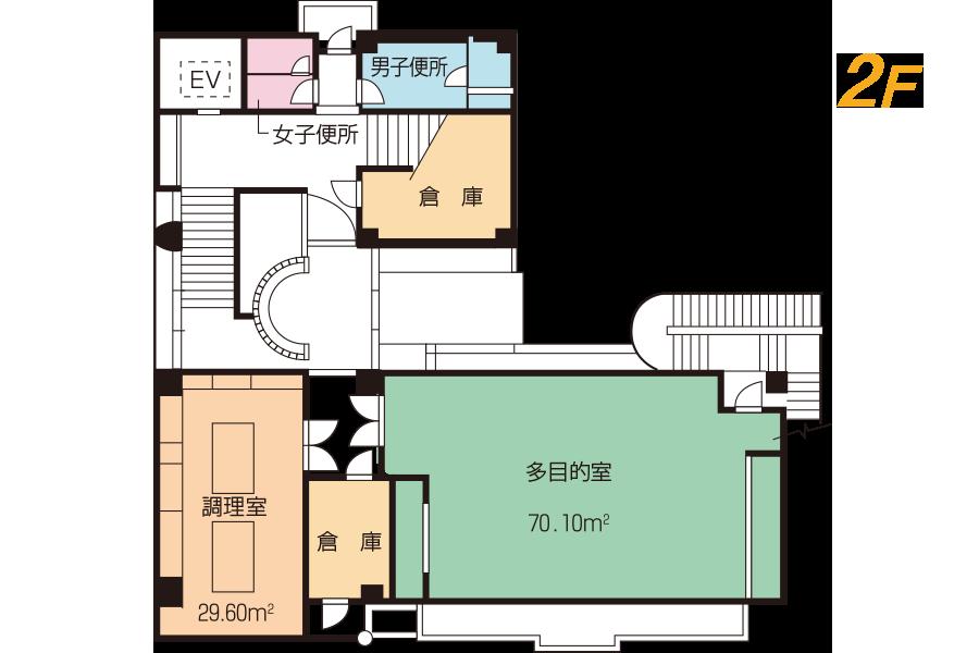 神戸市魚崎財産区  横屋会館 2Fフロアマップ