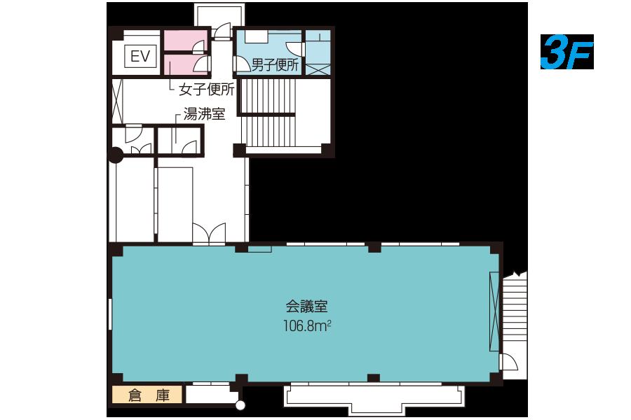 神戸市魚崎財産区  横屋会館 3Fフロアマップ